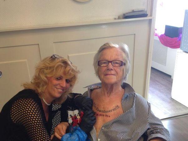 Oma Nelly mit Nicht-reanimieren-Tattoo: 91-Jährige lässt