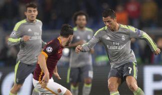 Im Champions-League-Duell gegen AS Rom antwortete Cristiano Ronaldo auf die aufkommende Kritik mit einem echten Kunstschuss. (Foto)