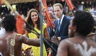 Im Dschungel erholen sie sich: Prinz William und Herzogin Catherine. (Foto)