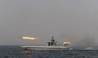 Im Rahmen seiner Seemanöver hat der Iran auch Raketen gestestet (Foto)