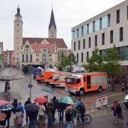 Im Rathaus Ingolstadt hat ein Mann mehrere Geiseln genommen.