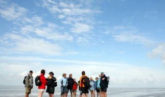 Im Wattenmeer an der Nordseeküste wandern Touristen nun durch eine Weltnaturerbe-Region. (Foto)