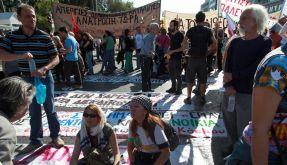 Immer wieder haben die Griechen in den vergangen Monaten protestiert. Nun legt ein neuer Streik den Staat lahm. (Foto)