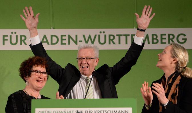 In Baden-Württemberg lagen die Grünen mit dem auch bei konservativen Wählern geschätzten Regierungschef Kretschmann vorn. (Foto)