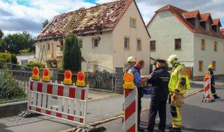 In diesem Haus in Weinböhla hat es eine Explosion gegeben. (Foto)
