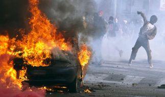 In Rom kam es zu schweren Straßenschlachten. (Foto)
