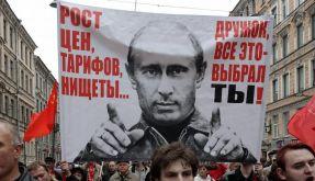 In der Touristenmetropole St. Petersburg gab es ebenfalls Proteste. (Foto)