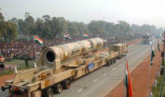Indien testet atomwaffenfähige Rakete (Foto)