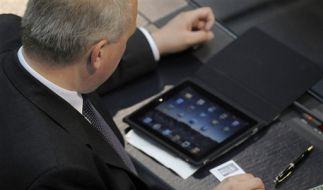 iPad-Hype im Bundestag (Foto)