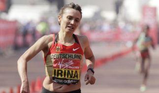 Irina Mikitenko beim London-Marathon Siebte (Foto)