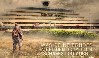 IS-Terroristen drohen mit einem Anschlag auf den Flughafen Köln/Bonn. (Foto)