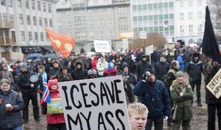 Isländer wollen nicht für Pleitebank zahlen (Foto)