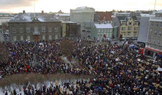 Island Demonstrationen (Foto)