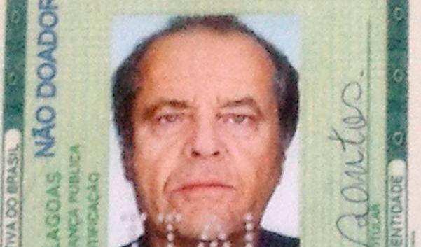 Jack Nicholson, kein Zweifel. Aber der Pass ist falsch. (Foto)