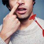 Mann findet Saugnapf in seiner Nase (Foto)