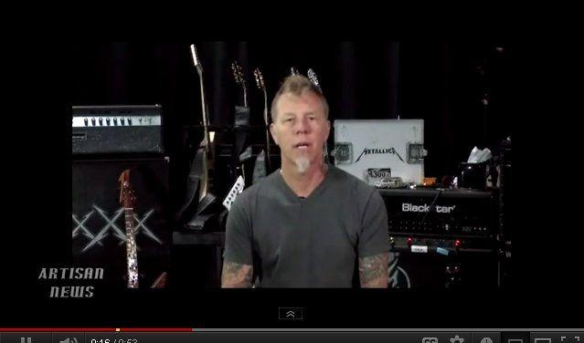 James Hetfield von Metallica bittet um Mithilfe. (Foto)