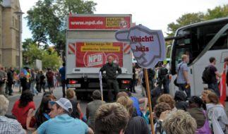 Jeden Tag muss sich eine andere deutsche Stadt mit der NPD-Deutschlandtour auseinandersetzen. (Foto)
