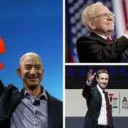 Jeff Bezos, Warren Buffett, Mark Zuckerberg: Sie zählen zu den acht reichsten Männern der Welt. (Foto)