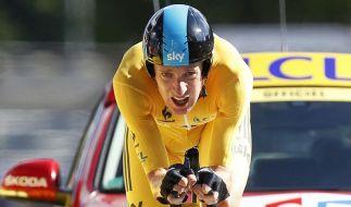 Jetzt in Gelb, früher dagegen ständig Blau: Bradley Wiggins zeigt, wie man sich ins Leben zurückfährt. (Foto)
