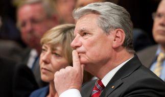 Joachim Gaucks viertägige Nahostreise, auf ihn seine Lebensgefährtin Daniela Schadt begleitete, ging am Donnerstag zu Ende. (Foto)