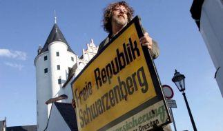 Jörg Baierlebt in der Freien Republik Schwarzenberg. (Foto)
