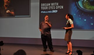 Jon Landau (links) kämpft für den Erfolg des dreidimensionalen Kinos. (Foto)