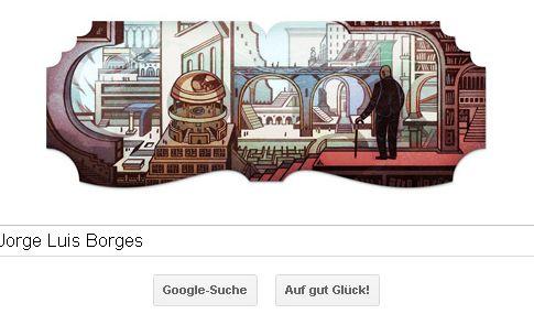 Jorge Luis Borges Google Doodle (Foto)