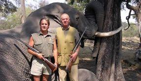 Juan Carlos auf Elefantenjagd in Botswana. (Foto)