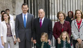 Juan Carlos besucht Ostermesse auf Mallorca (Foto)