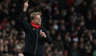 Jürgen Klopp empfängt mit dem FC Liverpool den FC Arsenal. (Foto)