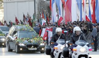Kaczynski-Begräbnis (Foto)