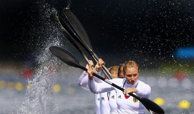 Kajak-Vierer der Frauen gewinnt Olympia-Silber (Foto)