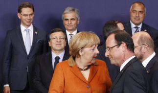 Kanzlerin Angela Merkel und Frankreichs Präsident Francois Hollande nähern sich an. Ein bisschen. (Foto)