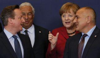 """Kanzlerin Merkel zog eine positive Bilanz nach den Gipfelberatungen. Die Atmosphäre sei """"sehr konstruktiv"""" gewesen. (Foto)"""