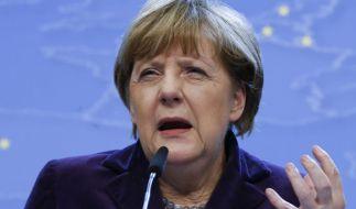 Kanzlerin Merkel während des EU-Gipfels in der belgischen Hauptstadt Brüssel. (Foto)