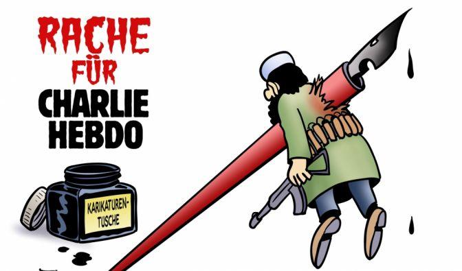 Karikaturisten auf der ganzen Welt solidarisieren sich mit den Opfern von Charlie Hebdo. (Foto)