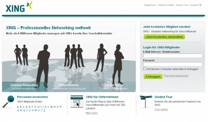 Karrierenetzwerk Xing (Foto)