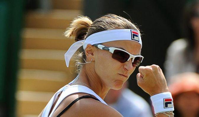 Kasachin Schwedova mit «Goldenem Satz» in Wimbledon (Foto)