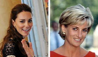 Kate Middleton und Lady Diana. (Foto)
