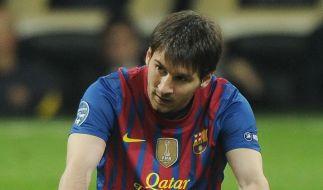 Keine Lust auf den HSV oder tatsächlich verletzt: Lionel Messi fehlt beim Jubiläumsspiel. (Foto)