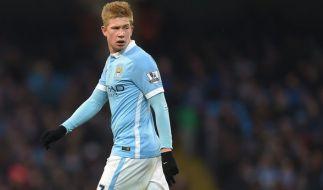 Kevin de Bruyne wird Manchester City die nächsten Wochen nicht zur Verfügung stehen. (Foto)