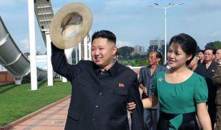 Kim Jong Un mit seiner Frau: Hat sich Ri Sol Ju wirklich den Sexiest Man Alive geangelt? (Foto)