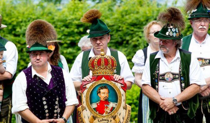 Königstreue erinnern an Ludwig II. (Foto)