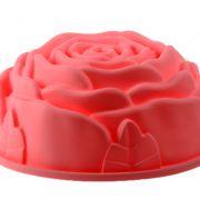 Köstlichkeit für Gaumen und Auge: Die Silikonbackform in Form einer Rose macht aus der Kaffeetafel ein Blumenbeet.