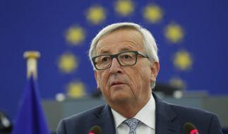 Kommissionspräsident Jean-Claude Juncker während seiner Rede im Europaparlament in Straßburg. (Foto)