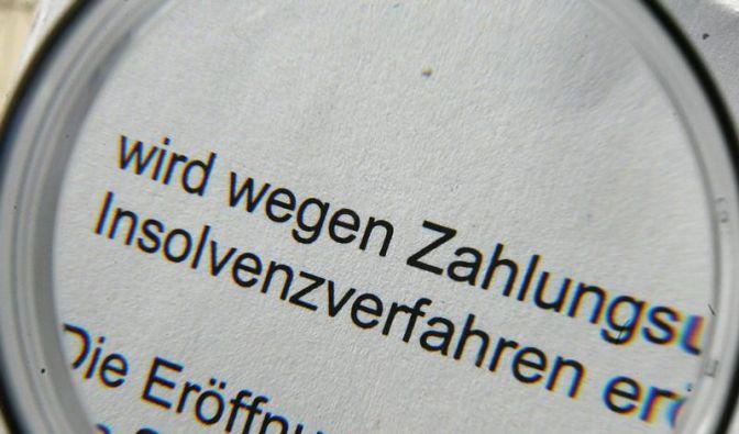 Konjunktur-Lok Deutschland dämpft Insolvenzen (Foto)
