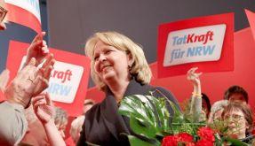 Kraft als SPD-Vorsitzende inNRW wiedergewählt (Foto)