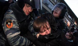 Kremlgegner rüsten sich trotz Gewalt für Proteste (Foto)
