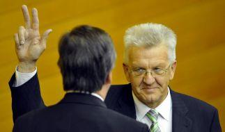 Kretschmann erster grüner Regierungschef (Foto)