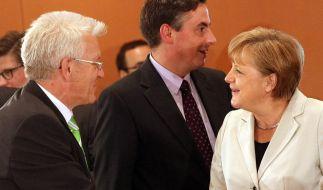Kretschmann und Merkel (Foto)